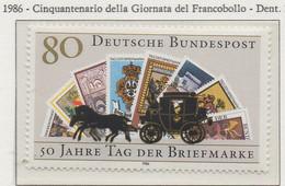 PIA - GERMANIA : 1986 : Cinquantenario Della Giornata Dl Francobollo   - (Yv 1128) - Giornata Del Francobollo