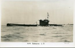UNITED KINGDOM Submarine L21 - (1917 To 1939) RPPC - Unterseeboote