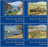 ROMANIA, 2019, DANUBE DAY, PAINTING, Art, River, Set Of 4, MNH (**); LPMP 2245 - 1948-.... Republics