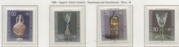 PIA  - GERMANIA  - 1986 : Oggetti Di Arte Vetraria - Sovrattassa Di Beneficenza   (Yv  1129-32) - Vetri & Vetrate