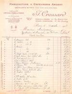 38-1783     1913 MANUFACTURE D ORFEVRERIE ARGENT J CROSSARD A PARIS - M. MALIZARD A VALENCE - 1900 – 1949