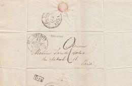 LETTRE. 1831. SEINE ET OISE DE BELLEVUE  T12 MEUDON POUR PARIS TAXE TAMPON 2 - 1801-1848: Précurseurs XIX