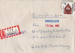 ! 2 Einschreiben 1996, Mit Alten R-Zetteln Aus Speyer, 67354 Römerberg, Pfalz, Alte Und Neue Postleitzahlen - [7] République Fédérale