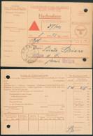 Krögis Frei Durch Abösung Reich DR Nachnahme Karte Finanzamt Meißen 25.1.42 - Deutschland