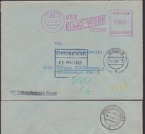 DDR ZKD AFS =060= DESSAU VEB ELMO - Werk Elektromotorenwerk Doppelbrief N. Berlin-Lichtenberg - [6] République Démocratique