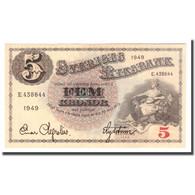 Billet, Suède, 5 Kronor, 1949, 1949, KM:33af, TB - Suède