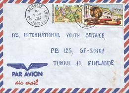 Togo 1994 Adjengre Guichet No. 1 Market Postal Organisation Cover. Rare Postmark - Togo (1960-...)