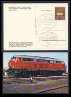 Deutschland Germany 1974 Postkarte Postcard - 75 Jahre Verkehrsmuseum Nürnberg - 1899-1974 + Diesellok/ Transport Museum - Treinen
