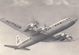 AEROPLANO-AIRPLANE-AVION-FLUGZEUG-=DC 7C=-CARTOLINA  VIAGGIATA IL 24-6-1959 - 1946-....: Era Moderna