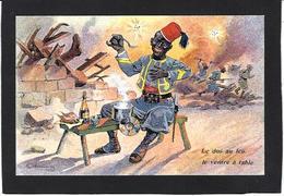 CPA Négritude Turco Satirique Caricature Guerre War WWI Anti Kaiser Germany  Non Circulé Champagne - Humoristiques