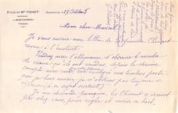 39-0921     1938 NOTAIRE PICHOT A MONTHOIRON   FACTURETTE - France