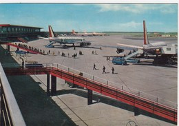 AEROPORTO-AEROPORT-AIRPORT-FLUGHAFEN-AERODROM-FIUMICINO-ROMA-CARTOLINA VIAGGIATA NEL 1966 - Aerodromi