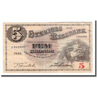 Billet, Suède, 5 Kronor, 1945, 1945, KM:33ab, TB - Suède