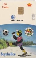 TARJETA DE LAS SEYCHELLES DE BLACK PARROT MASCOT CAF U-17 FINALS (FUTBOL-FOOTBALL) - Sychelles