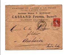 AMBULANT DE NANTES A LA ROCHE SUR YON 1911 - Marcophilie (Lettres)