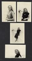 BLANKENBERGE * 4 FOTO'S VAN JONGEDAME AAN ZEE * JAREN '50 * PHOTO HALL * JOLIE JEUNE FEMME A LA COTE BELGE * 9 X 6.5 CM - Pin-ups