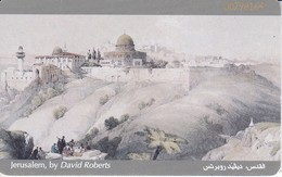 TARJETA DE JORDANIA DE 5JD DE JERUSALEM BY DAVID ROBERTS (PINTURA-PAINTING) - Jordanie