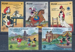 °°° BEQUIA GRENADINES ST. VINCENT - WALT DISNEY 1989 MNH °°° - St.Vincent E Grenadine