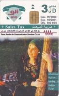 TARJETA DE JORDANIA DE 3JD DE UNA MUJER DE FECHA 10/2001 Y TIRADA 100000 - Giordania