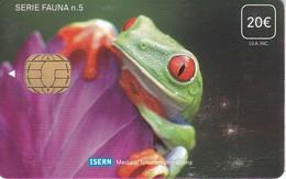 ISN-088 TARJETA DE ESPAÑA DE ISERN DE LA SERIE FAUNA Nº5  (RANA-FROG) - Tarjetas Telefónicas