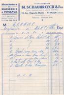 39-1386     1950 MANUFACTURE DE BROSSERIE ET PINCEAUX ETS M SCHAUBROECK ET FILS A SAINT MAUR - M. BERNIOT A BLET   FACTU - France