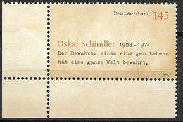 2008 Allem. Fed. Deutschland Mi. 2660 **MNH  EUL 100. Geburtstag Von Oskar Schindler - [7] Federal Republic