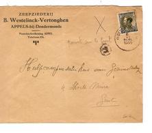 PR6623/ TP 401 S/L.Entête Westelinck-Verthongen Zeepziederij Appels-bij-Dendermonde C.Dendermonde 1935 > Gent - Lettres & Documents