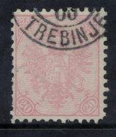 BOSNIA & HERZEGOVINA 1900 20 H. Perforated 10½, Used.  Michel 16B,  SG 171 - Bosnia And Herzegovina