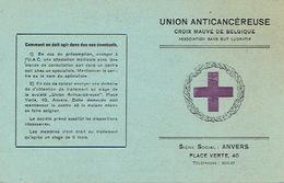 Carte De Membre De 1944 - CROIX MAUVE DE BELGIQUE UNION CANCEREUSE - ANTWERPEN - Cartes Postales