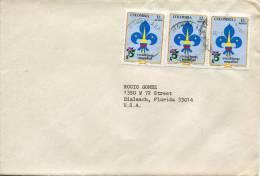 Lote SC685, Colombia, 1983, Sobre, Cover, Escultimos Mundial, Scout, 3 Sellos - Otros