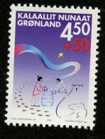 Greenland 2002 4.50k + 50c Semi Postal Issue #B27  MNH - Unused Stamps