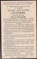 Wijtschate, Wytschate,Wytschaet, Watou, 1922, Julie Leterme, Descamps - Images Religieuses