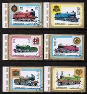 AJMAN  Mi # 1850-5 VF USED  (Stamp Scan # 524) - Ajman