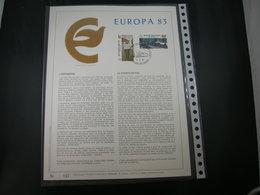 """BELG.1983 2092/93 FDC Filatelic Gold Card FR. : """" EUROPA 1983 """" - 1981-90"""