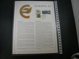 "BELG.1983 2092/93 FDC Filatelic Gold Card NL. : "" EUROPA 1983 "" - 1981-90"
