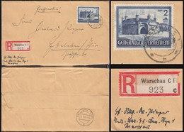 Generalgouvernement, Waffen-SS Registered Cover (MiNr. 63 EF). POLAND, WARSCHAU 6.7.1941 - EBELEBEN. - Occupation 1938-45