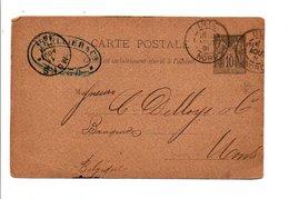 ENTIER SAGE DE LILLE 1891 - Marcofilia (sobres)