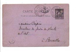 ENTIER SAGE DE PARIS 32 1888 - Marcofilia (sobres)