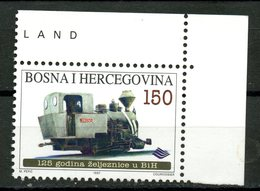 Bosnia Herzegovina 1997 150d Railroads Issue #277 MNH - Bosnia And Herzegovina