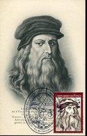 46577 Uruguay, Maximum 2019 Self Portrait Of Leonardo Da Vinci,special Postmark 15.5.2019, Vintge Card ! - Arte