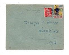 VIGNETTE ERINNOPHILE SUR LETTRE 1948 - Lettres
