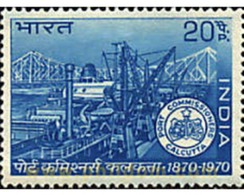 Ref. 61006 * MNH * - INDIA. 1970. CENTENARY OF THE PORTS AUTHORITY OF CALCUTTA . CENTENARIO DE LA COMISION PORTUARIA DE - Eisenbahnen