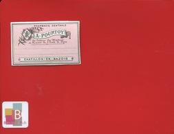 CHATILLON EN BAZOIS POURTOY  Pharmacien  ETIQUETTE ANCIENNE PHARMACIE  CIRCA 1900 - Sonstige