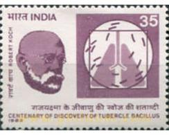 Ref. 325916 * MNH * - INDIA. 1982. CENTENARIO DES DESCUBRIMIENTO DEL BACILIUS DE LA TUBERCULOSIS - Famous People
