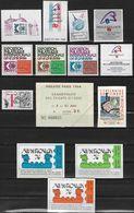 Document La Poste Lot De Divers Documents, 13 Vignettes Gommées, 2 Planches De 15 Vignettes, 5 Documents Divers, Entrée, - Postdokumente