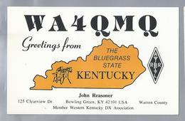 US.- QSL KAART. CARD. WA4QMQ. JOHN REASONER, BOWLING GREEN, MEMBER WESTERN KENTUCKY DX ASS, WARREN COUNTY, U.S.A.. ARRL. - Radio-amateur