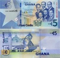GHANA       5 Cedis       P-New        4.3.2019       UNC - Ghana