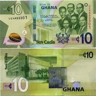 GHANA       10 Cedis       P-New        4.3.2019       UNC - Ghana