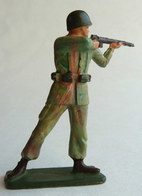 SOLDAT FIGURINE FIG STARLUX 1966 PARA Commando CASQUE Fusil Tireur Debout C4  ARMEE MODERNE (4) - Starlux
