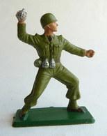 SOLDAT FIGURINE FIG STARLUX 1958-59 Combatant Série Luxe 5009 Grenadier ARMEE MODERNE (2) - Starlux